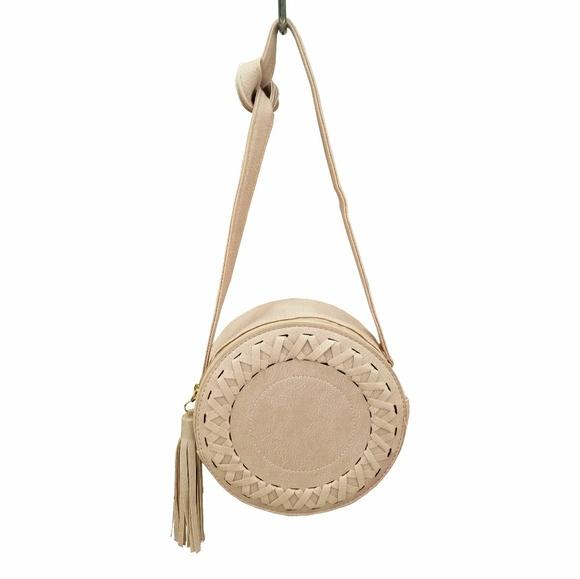 Justin & Taylor Handbags - Justin & Taylor Light Pink Round Crossbody Handbag
